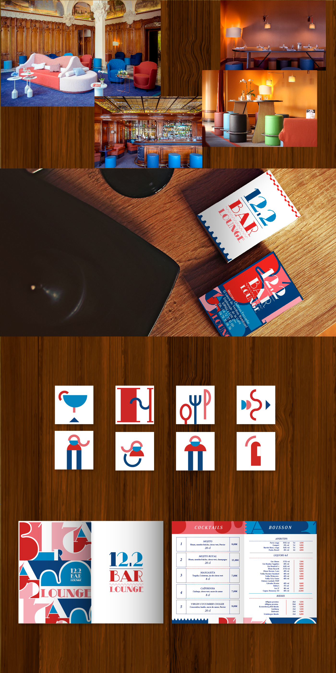 12,2 bar lounge branding created by Sara Villanueva