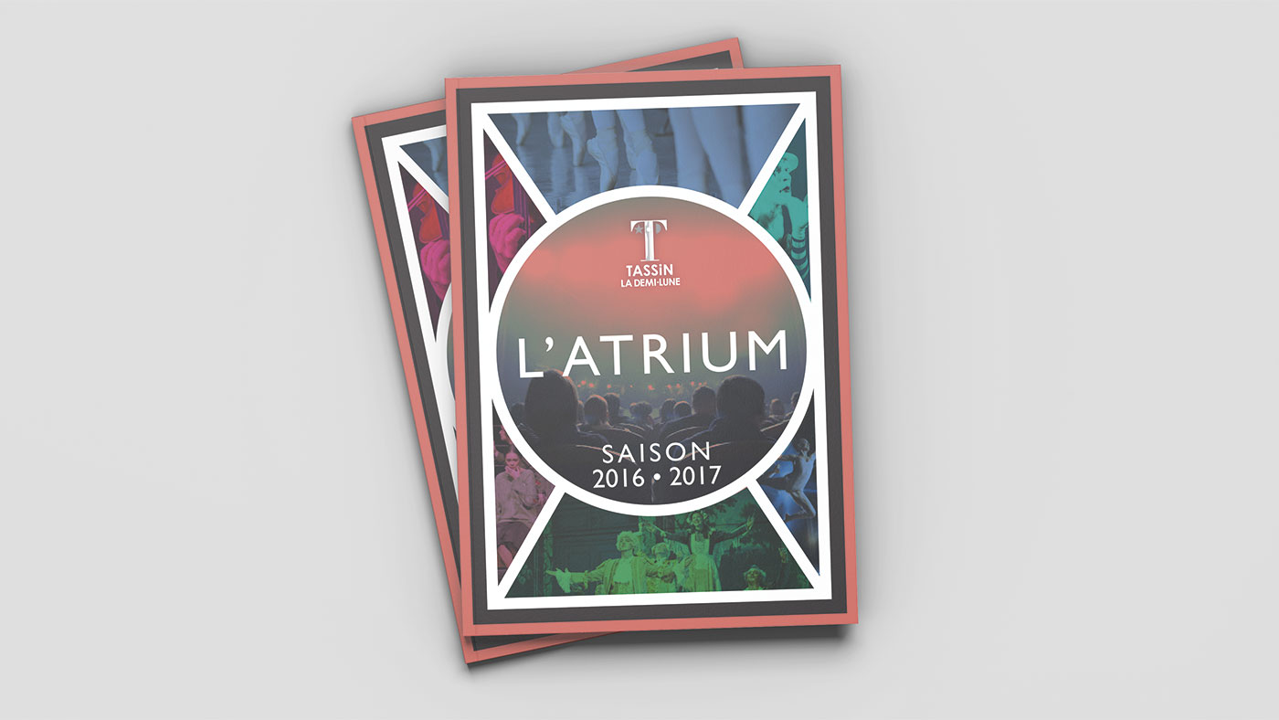 Théâtre de L'Atrium graphic design by sara villanueva